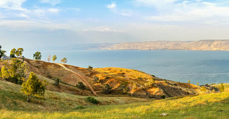 Romantic helicopter ride - a flight over the Galilee and the Golan Heights